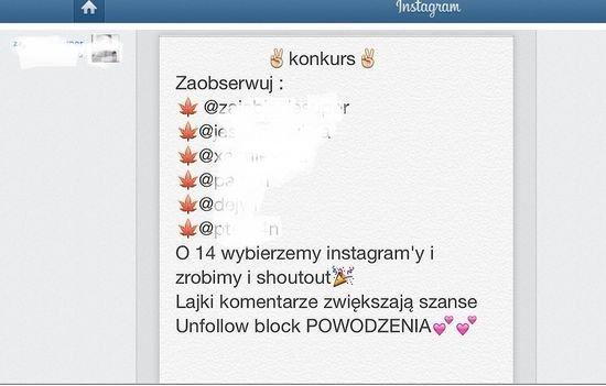 jak zrobić konkurs na instagramie